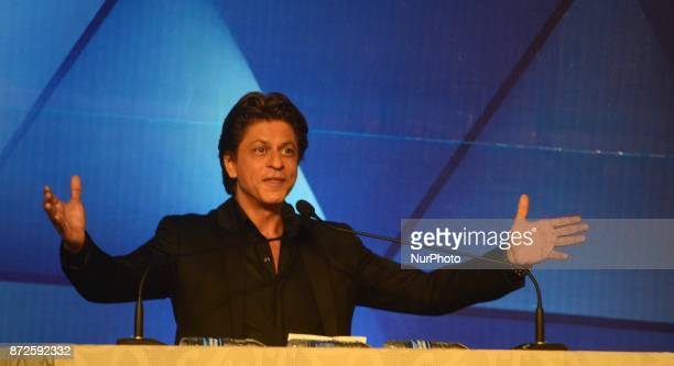 Indian Actor Shah Rukh Khan deliver his speech during the inauguration ceremony of 23rd Kolkata International Film Festival in Kolkata India on...