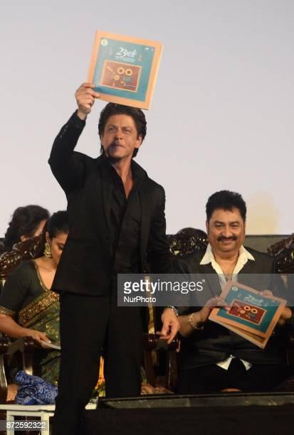 Indian Actor Shah Rukh Khan release the festival book during the inauguration ceremony of 23rd Kolkata International Film Festival in Kolkata India...