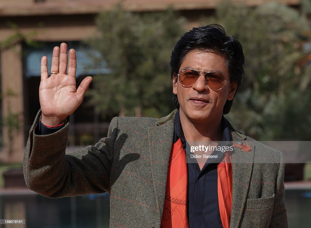 Indian actor Shahrukh Khan poses at Tal Palace Marrakech Hotel during the Tribute To Hindi Cinema at 12th International Marrakech Film Festival on December 1, 2012 in Marrakech, Morocco.