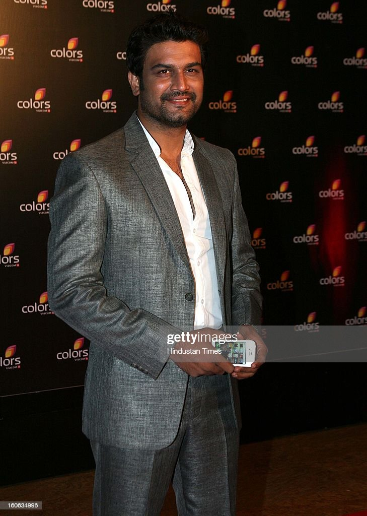 indian actor Sharad Saxena during 4th anniversary party of Colors at Grand Hyaat on February 2, 2013 in Mumbai, India.