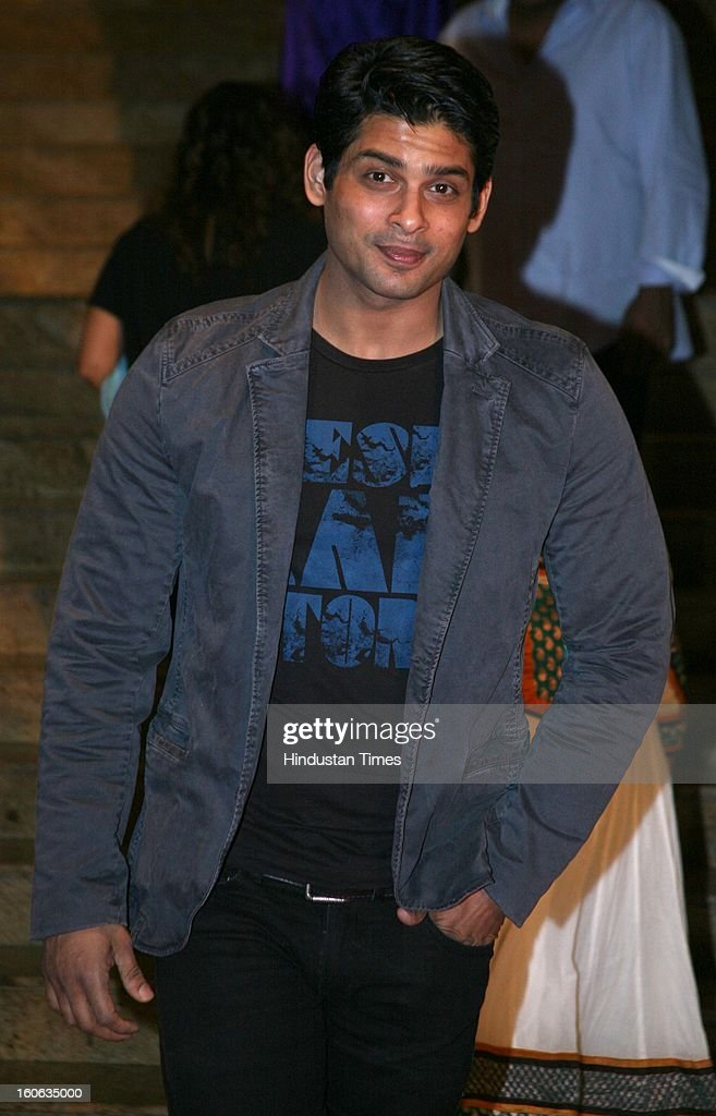 Indian actor Siddarth Shukla during 4th anniversary party of Colors at Grand Hyaat on February 2, 2013 in Mumbai, India.