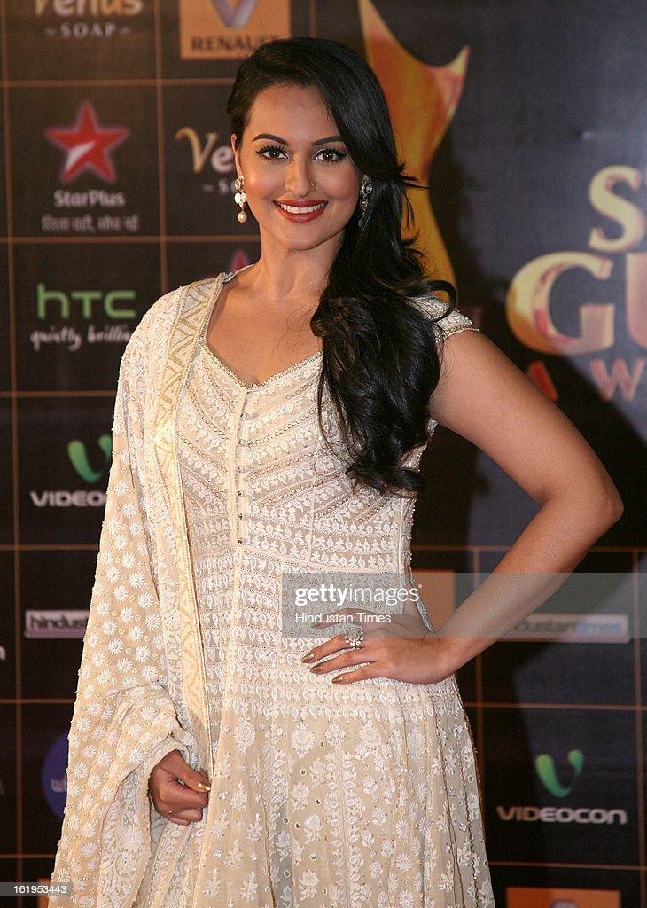 Indian actor Sonakshi Sinha during Star Guild awards at Yash raj Studio, Andheri on February 16, 2013 in Mumbai, India.