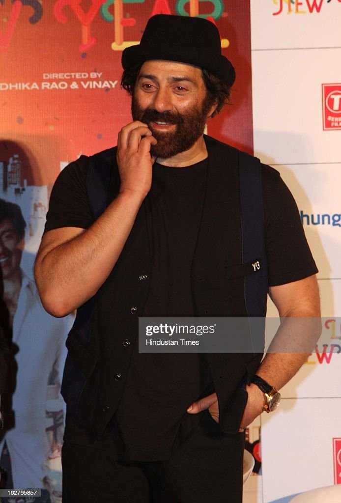 Indian Actor Sunny Deol during Trailer launch of his upcoming movie I Love NY at Cinemax on February 25, 2013 in Mumbai, India.
