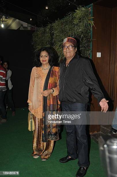 Indian actor Vinod Khana with his wife Kavita attending party hosted by Sunil Shetty and Mana Shetty on the launch of their new store R house on...