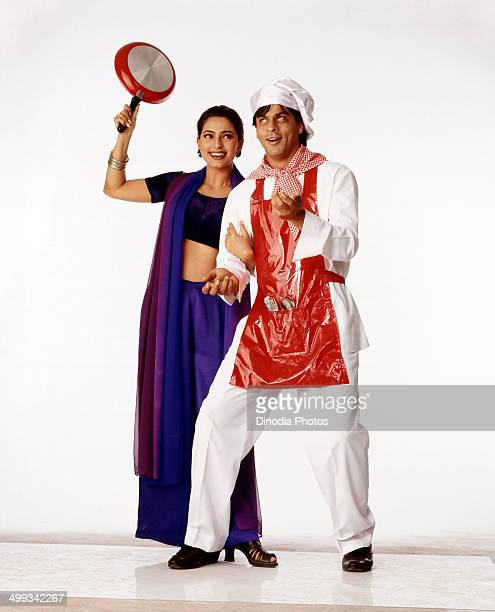 1990 Shahrukh Khan and Juhi Chawla in movie Duplicate