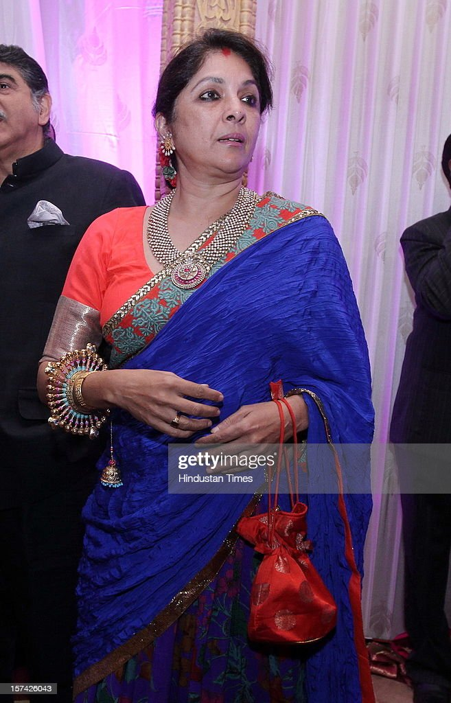 Indian actress and director-producer Neena Gupta attending the marriage reception of YES Bank founder Rana Kapoor's daughter at Taj Palace on November 30, 2012 in New Delhi, India. Kapoor is the MD & CEO of YES Bank, which is the 4th largest private sector bank in the country.