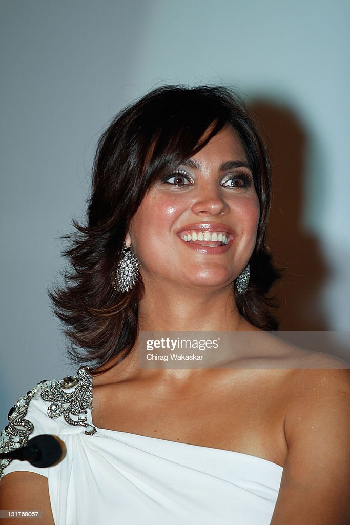 Indian actress and former Miss Universe <a gi-track='captionPersonalityLinkClicked' href=/galleries/search?phrase=Lara+Dutta&family=editorial&specificpeople=728080 ng-click='$event.stopPropagation()'>Lara Dutta</a> attends the press conference for Bollywood movie 'Blue' held at Hotel Renaissance on March 6, 2009 in Bombay, India.