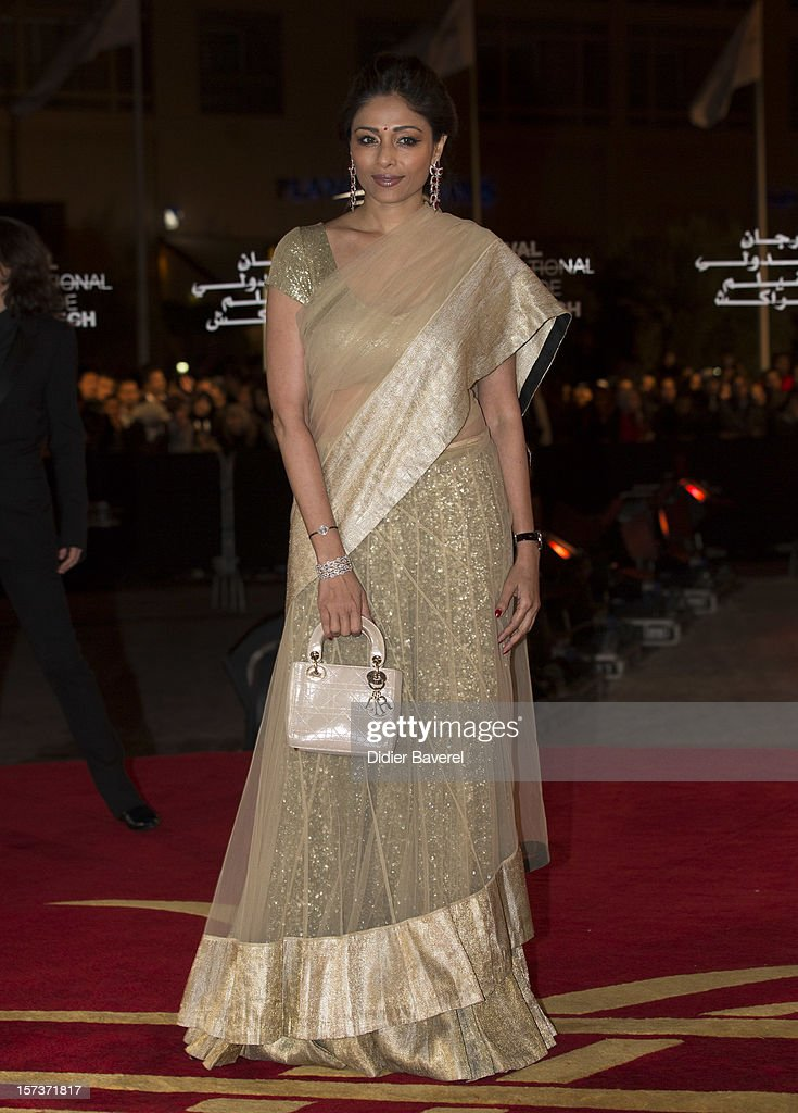 Indian actress and jury member Sharmila Tagore attends the Tribute to Hindi Cinema ceremony at the 12th Marrakech international Film Festival on November 30, 2012 in Marrakech, Morocco.