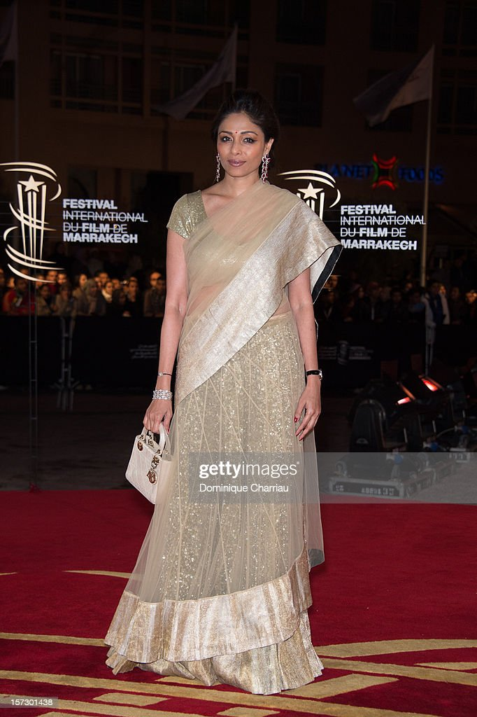 Indian actress and jury menber Sharmila Tagore arrives for the tribute to Hindi cinema at the 12th Marrakech International Film Festival Marrakech International 12th Film Festival on December 1, 2012 in Marrakech, Morocco.