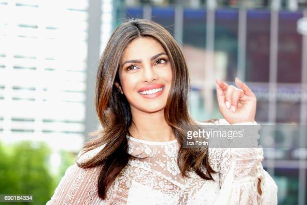 Indian actress and singer Priyanka Chopra attends the 'Baywatch' Photo Call in Berlin on May 30 2017 in Berlin Germany
