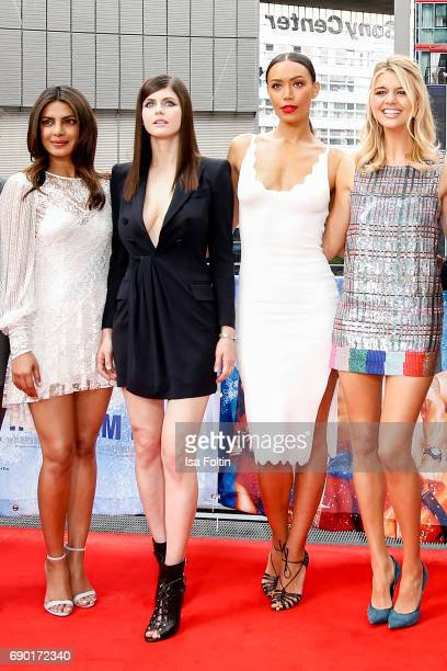 Indian actress and singer Priyanka Chopra US actress Alexandra Daddario US actress Ilfenesh Hadera and US actress Kelly Rohrbach attend the...