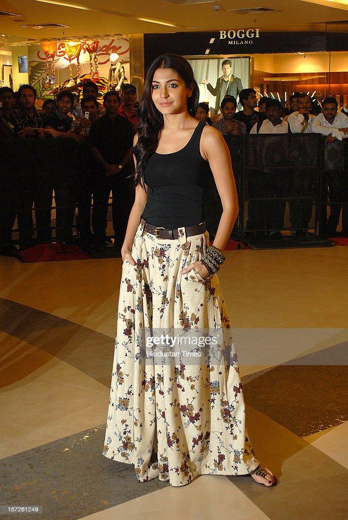 Indian actress Anushka Sharma attending special screening of Film 'Talaash' at Phoenix Marketcity Mall, Kurla on November 29, 2012 in Mumbai, India.
