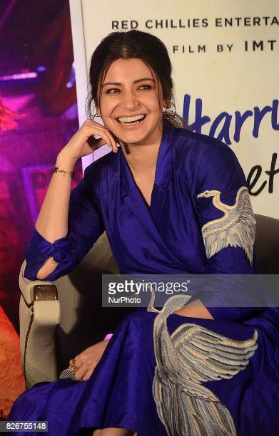 Indian Actress Anushka Sharma during the press conference of promotion of their film Jab harry Met Sejal in Kolkata India on Saturday 5th August 2017
