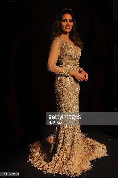 Indian Actress Bipasha Basu walks the ramp and Show Stopper at the Blenders Pride Fashion Tore 2016 on November 262016 in KolkataIndia