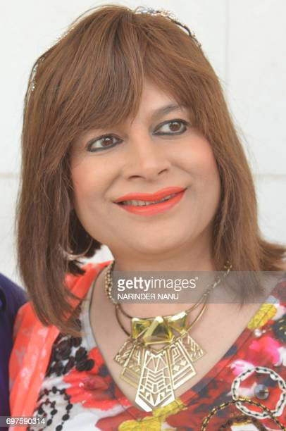 Indian actress Bobby Darling poses for a photograph during a promotional event in Amritsar on June 19 2017 / AFP PHOTO / NARINDER NANU