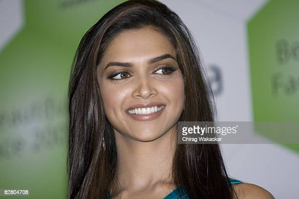 Indian actress Deepika Padukone launches Fiama Di Wills Beautiful Face 2008 at ITC Hotel on September 12 2008 in Mumbai India