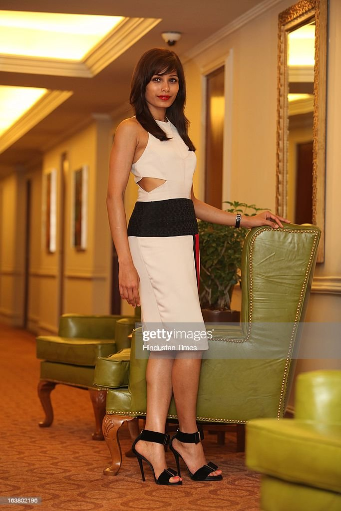 Indian actress Freida Pinto poses for profile shoot on March 15, 2013 in New Delhi, India.