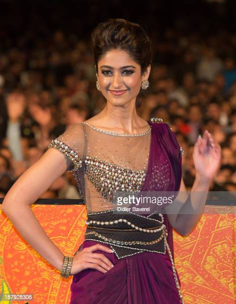Indian actress Ileana D'Cruz performs at Place Jemaa el Fna during the 12th International Marrakech Film Festival on December 7 2012 in Marrakech...