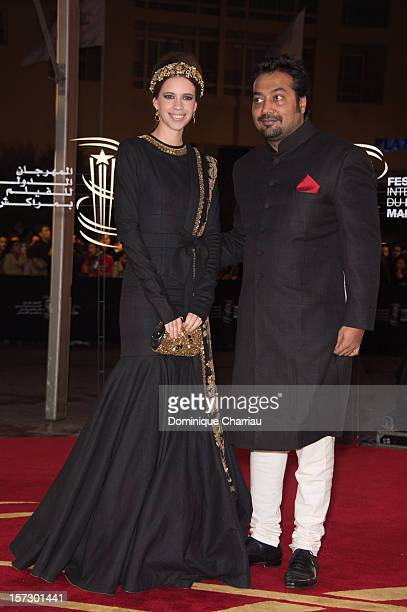 Indian Actress Kalki Koechlin and Indian Director Anurag Kashyap arrive for the tribute to Hindi cinema at the 12th Marrakech International Film...