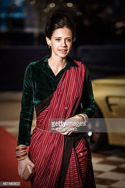 Indian actress Kalki Koechlin is seen on the red carpet during the 9th Asian Film Awards in Macau on March 25 2015 Movie stars attended the event...