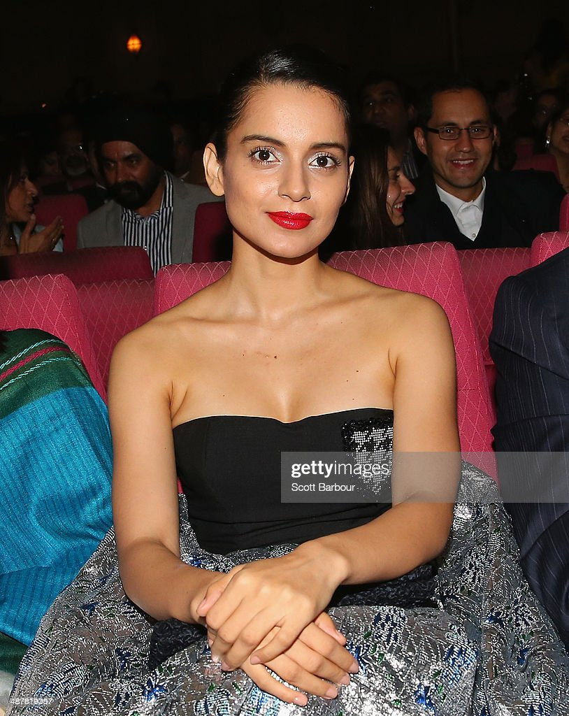 Indian actress, <a gi-track='captionPersonalityLinkClicked' href=/galleries/search?phrase=Kangana+Ranaut&family=editorial&specificpeople=4325041 ng-click='$event.stopPropagation()'>Kangana Ranaut</a> poses during the Indian Film Festival of Melbourne Awards at Princess Theatre on May 2, 2014 in Melbourne, Australia.