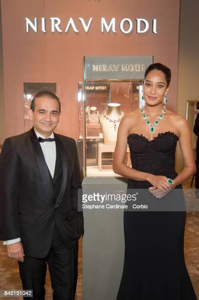 Indian Actress Lisa Haydon and Nirav Modi attend the Nirav Modi Gala Dinner At La Biennale Paris at Le Grand Palais on September 9 2017 in Paris...