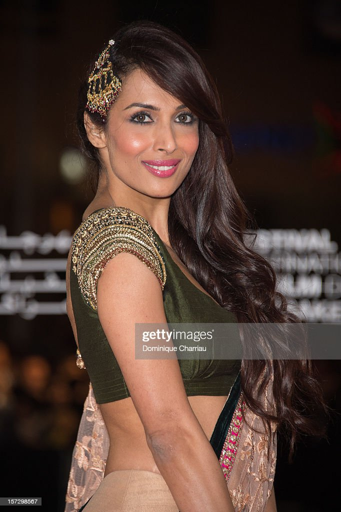 Indian actress Malaika Arora Khan arrives for the tribute to Hindi cinema at the 12th Marrakech International Film Festival on December 1, 2012 in Marrakech, Morocco.
