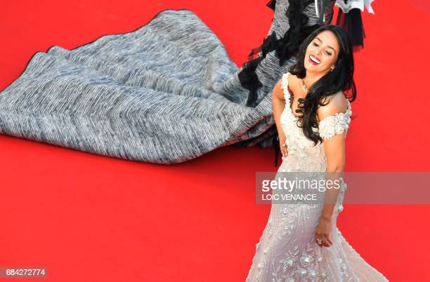 Indian actress Malika Sherawat poses as she arrives on May 17 2017 for the screening of the film 'Ismael's Ghosts' during the opening ceremony of the...