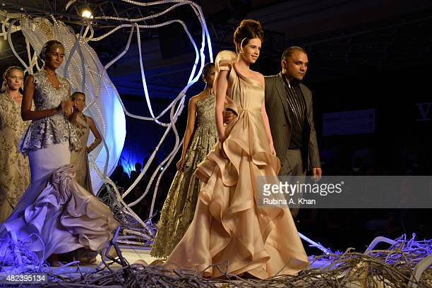 Indian actress of French descent Kalki Koechlin was the showstopper for Gaurav Gupta's couture line that he showcased on the second day of the...