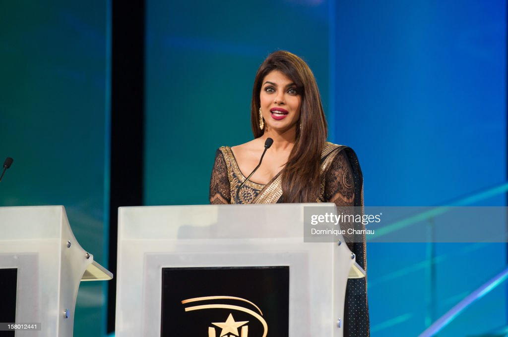 Indian actress Pryianka Chopra attends the ceremony awrard of the 12th International Marrakech Film Festival on December 8, 2012 in Marrakech, Morocco.