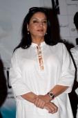 Indian actress Shabana Azmi at the press conference for new Bollywood film 'Sorry Bhai' at Magic Nightclub on November 14 2008 in Bombay India
