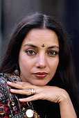 Indian Actress Shabana Azmi attends a promotional shoot for the film 'Madame Sousatzka' directed by John Schlesinger and starring Shirley MacLaine in...