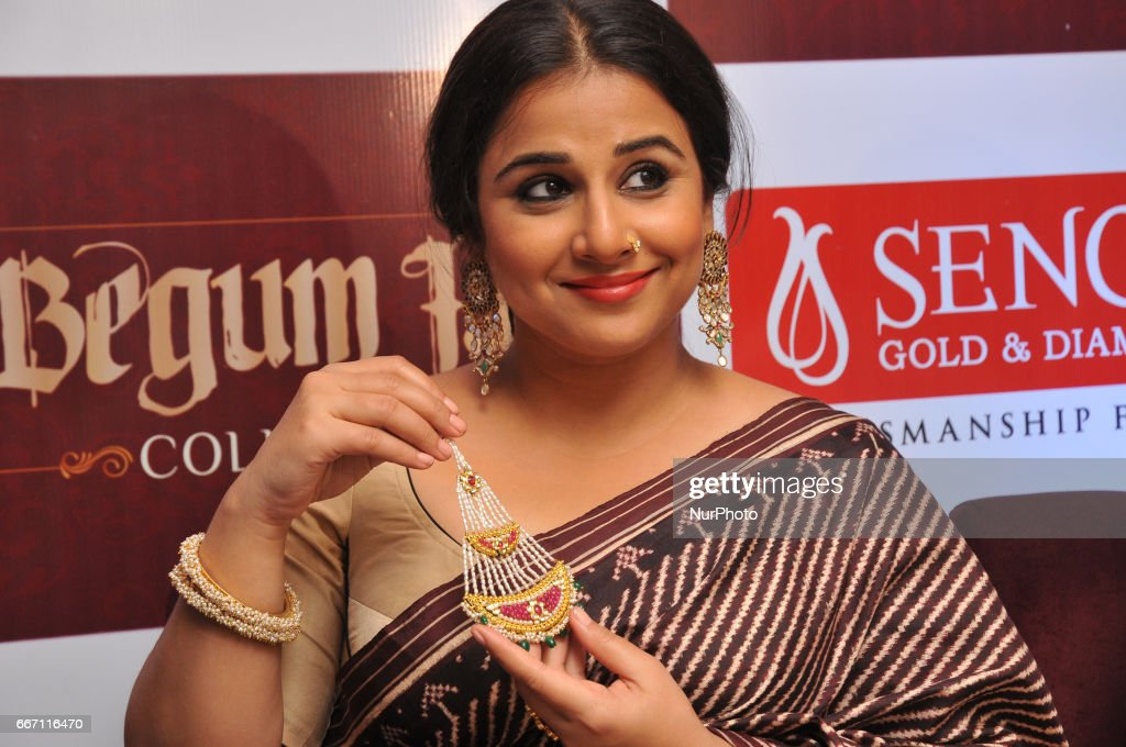 Indian Actress Vidya Balan Show Begamjaan Jewellery In Kolkata : News Photo