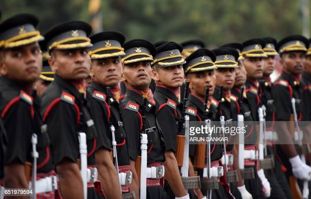 Indian army cadets march at a graduation ceremony at the Officers Training Academy in Chennai on March 11 2017 A total of 238 cadets including 35...