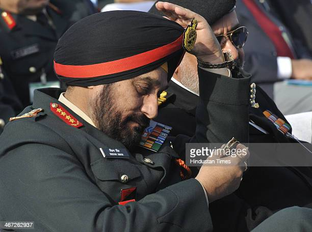 Indian Army Chief General Bikram Singh during DefExpo 2014 which was inaugurated by Defense Minister AK Antony at Pragati Maidan on February 6 2014...