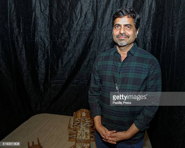 ISLAND SYDNEY NSW AUSTRALIA Indian artist Sudarshan Shetty with 'Shoonya Ghar' at the Art Gallery of New South Wales Embassy of Spirits during the...