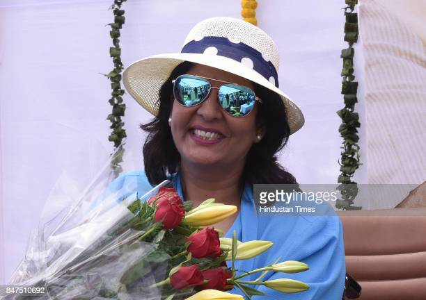 Indian athlete Deepa Malik during the launch of 'Swachhta Hi Seva' a nationwide sanitation campaign at BBlock Inner Circle Connaught Place on...