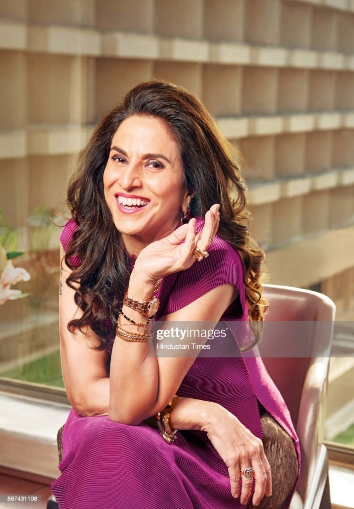 Indian author and columnist Shobhaa De during an exclusive interview with HT Brunch-Hindustan Times, at the JW Marriott, on November 20, 2017 in Mumbai, India.