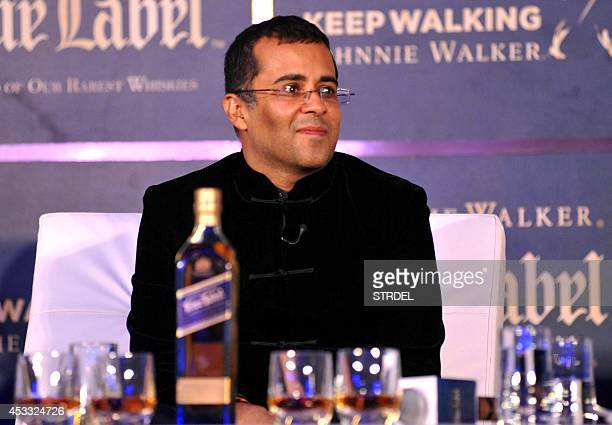 Indian author and screenwriter Chetan Bhagat poses during a promotional event in Mumbai late August 7 2014 AFP PHOTO/STR