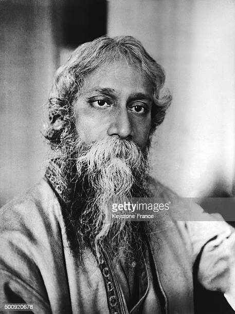 Indian author Rabindranath Tagore in 1928 in India