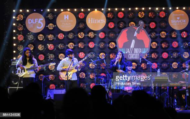 Indian band Kitchensink perform in Jazz India Circuit 201718 season at Horizon Plaza DLF phase5 on December 2 2017 in Gurgaon India The show was...