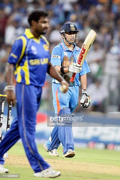 Indian batsman Gautam Gambhir during the ICC Cricket World Cup 2011 Final match at The Wankhede Stadium in Mumbai on April 2 2011 India beat Sri...