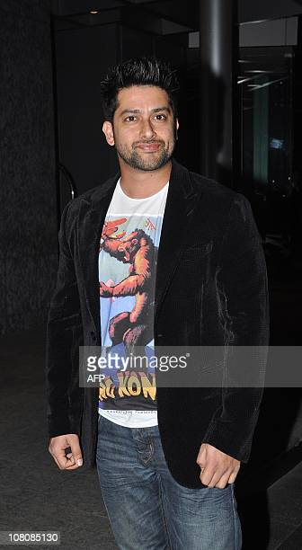 Indian Bollywood actor Aftab Shivdasani attends the Nandita Mahtani fashion show at the Chivas Studio in Mumbai on January 16 2011 AFP PHOTO/STR