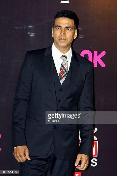 Indian Bollywood actor Akshay Kumar attends the 'Life OK Screen Awards 2015' in Mumbai on January 14 2015 AFP PHOTO/STR