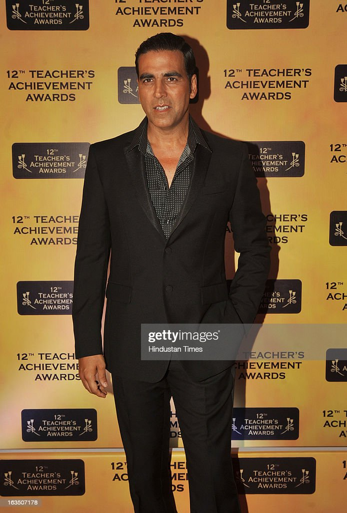 Indian bollywood actor Akshay Kumar during the 12th Teachers Achievement Awards 2013 at the Hotel Taj Lands End, Bandra on March 9, 2013 in Mumbai,India.