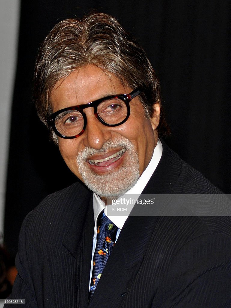 Indian Bollywood actor Amitabh Bachchan attendeds the Valedictory Function on International Commerce and Management during an event in Mumbai on January 11, 2013.