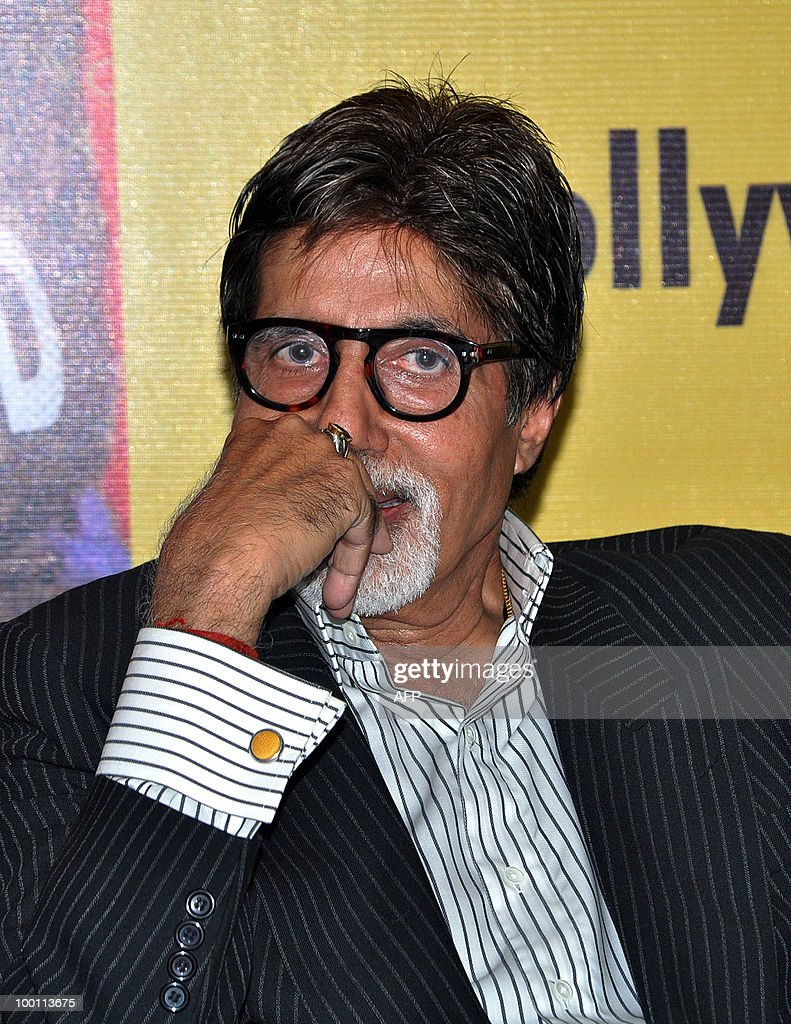 Indian Bollywood actor Amitabh Bachchan attends a book launch event in Mumbai om May 21 May, 2010.