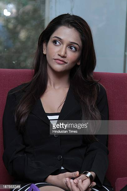 Indian Bollywood actor Anaika Soti during an exclusive interview for the promotion of upcoming movie Satya 2 at HT Media Office on November 6 2013 in...