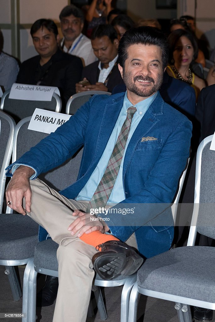 Indian Bollywood actor <a gi-track='captionPersonalityLinkClicked' href=/galleries/search?phrase=Anil+Kapoor&family=editorial&specificpeople=563857 ng-click='$event.stopPropagation()'>Anil Kapoor</a> attends the press conference for the 17th edition of IIFA Awards (International Indian Film Academy Awards) in Madrid on June 23, 2016. Photo: Oscar Gonzalez/NurPhoto