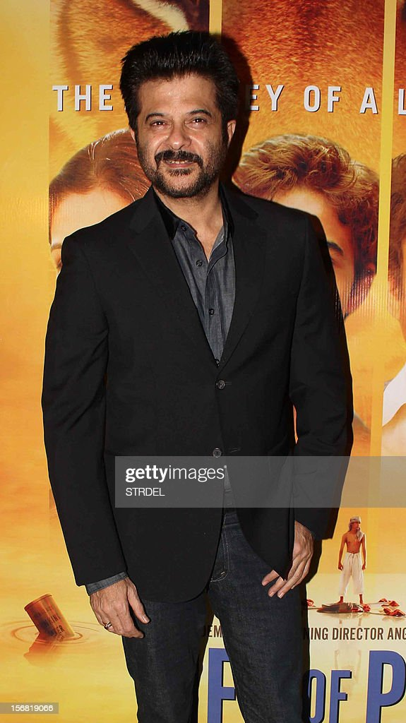 Indian Bollywood actor Anil Kapoor poses as he attends a special screening of the film 'Life of Pi' in Mumbai late November 21, 2012.